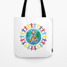 Autism awareness day Shirt - support autistic kids Tote Bag