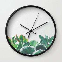 Plant Trio Wall Clock