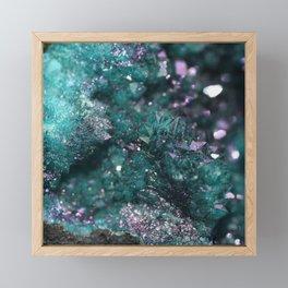 Geode Abstract Aqua Fascination Framed Mini Art Print