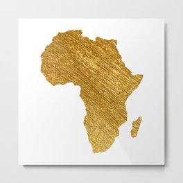 Africa Gold Continent Metal Print