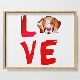 Love Beagles Serving Tray