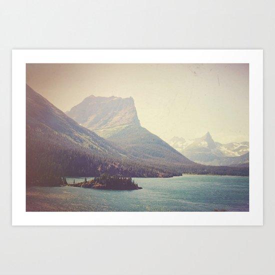 Retro Glacier Art Print