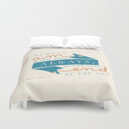 """I am with you"" Bible Verse Print Duvet Cover"