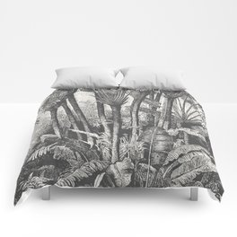 Palms in Water Comforters