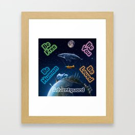 Advent Guard Earth Tranquil Whale Aspect Framed Art Print