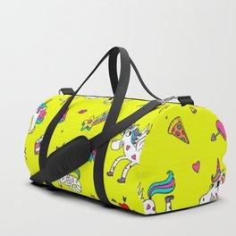Pattern unicorns mermaids horses girlish things Duffle Bag