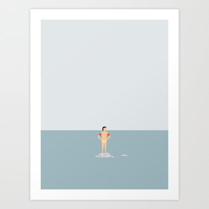 OCEAN SVØMMERE No.02 (Boy) Art Print