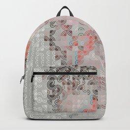 Hedgehog geometric pattern portrait of Bowie 02 Backpack