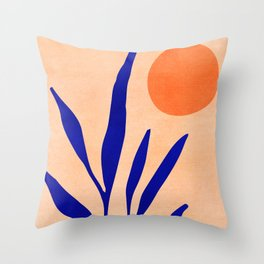 Golden Afternoon II / Abstract Landscape Throw Pillow