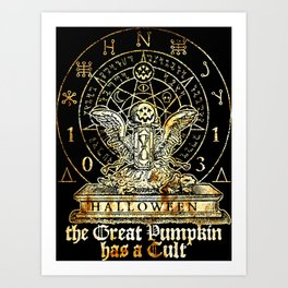 Cult of the Great Pumpkin: Winged Hourglass Art Print