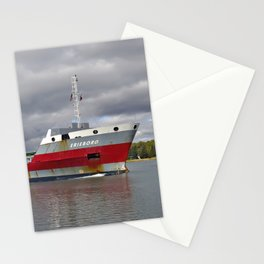 Erieborg Freighter by Neebish Stationery Cards