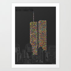 2606 Souls compose The Twin Towers Art Print