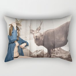 Christmas reigns Triumphant Not only in The mind of a Reindeer Rectangular Pillow