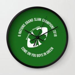 Ireland - Grand Slam Champions 2018 Wall Clock