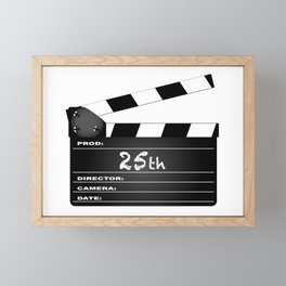 25th Year Clapperboard Framed Mini Art Print