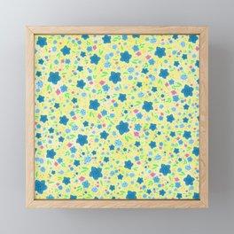 Forget Me Nots - Yellow Framed Mini Art Print