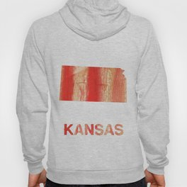 Kansas map outline Burnt sienna watercolor Hoody