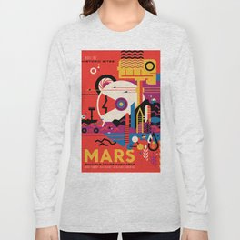 NASA Retro Space Travel Poster #9 Mars Long Sleeve T-shirt