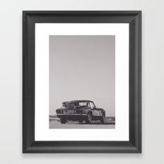 Supercar details, british triumph spitfire, black & white, high quality fine art print, classic car Framed Art Print