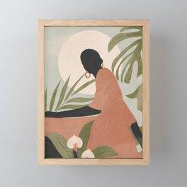 Tropical Girl 21 Framed Mini Art Print