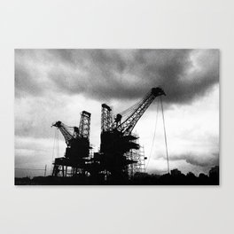 Battersea Powerstation Cranes Canvas Print