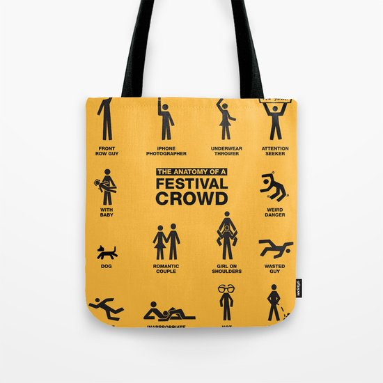 The Anatomy of a Festival Crowd Tote Bag