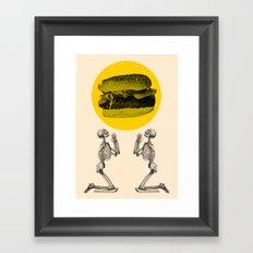 Hamburger Pray Framed Art Print