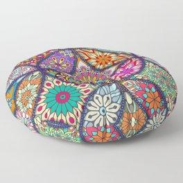 Colorful Mandala Floor Pillow