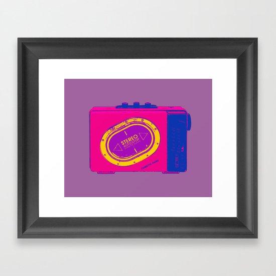 FAVOURITE90 - Walkman Pink Framed Art Print