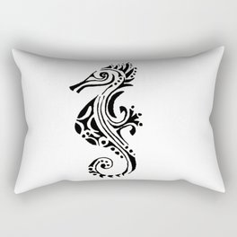 seahorse tatoo white Rectangular Pillow