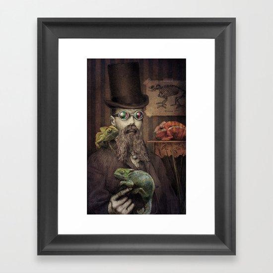 The Chameleon Collector Framed Art Print