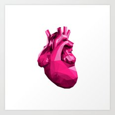 Heart - Pink Art Print