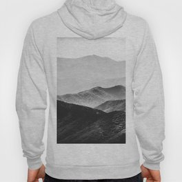 Glimpse - Black and White Mountains Landscape Nature Photography Hoody