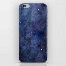 Night Sky Stars Galaxy   Watercolor Nebula iPhone & iPod Skin