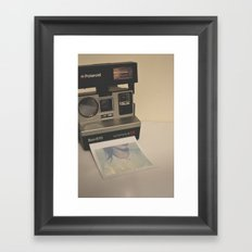 HELLO RETRO Framed Art Print