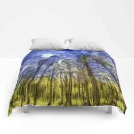 Fantasy Art Forest Comforters