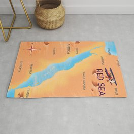 Red Sea Travel map Rug