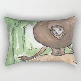 Empire of Mushrooms: Geastrum minimum Rectangular Pillow