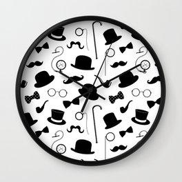 Gentlemen's Attire Wall Clock