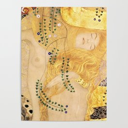 Water Serpents - Gustav Klimt Poster