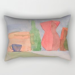 Still Life in Watercolor Rectangular Pillow