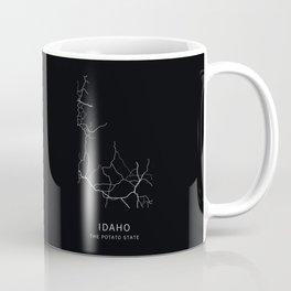 Idaho State Road Map Coffee Mug
