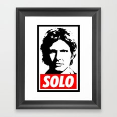 Obey Han Solo (solo text version) - Star Wars Framed Art Print