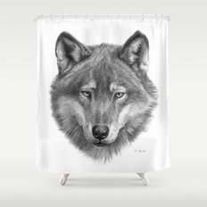 Wolf face G084 Shower Curtain