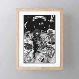 Frank Zappa - Kiss My Aura Framed Mini Art Print