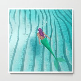 A Mermaid Swim Metal Print