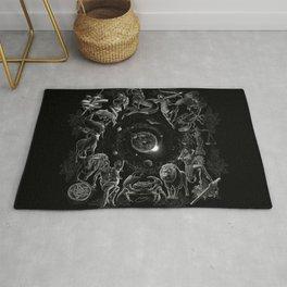 XXI. The World Tarot Card Illustration (Zodiacs) Rug
