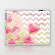 Chevron Tulips Laptop & iPad Skin