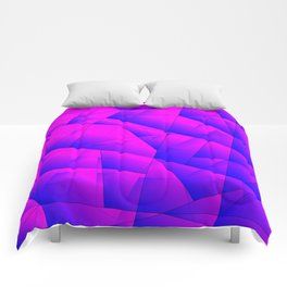 Pattern of purple and lilac triangles and irregularly shaped lines. Comforters