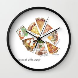 Slices of Pittsburgh Wall Clock
